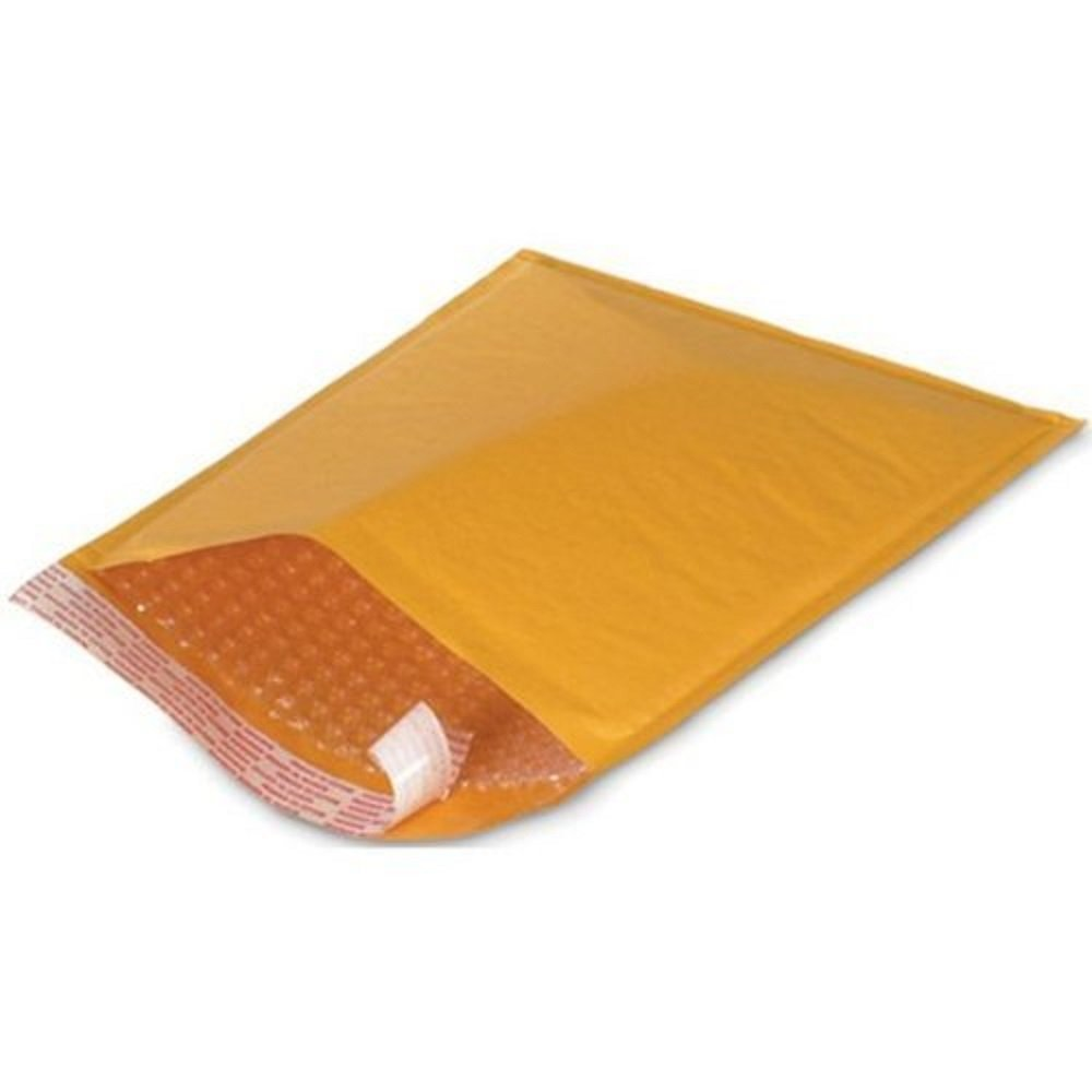 "Kraft Bubble Lined Bags #000 4 ""x 8"" (500/cs)"