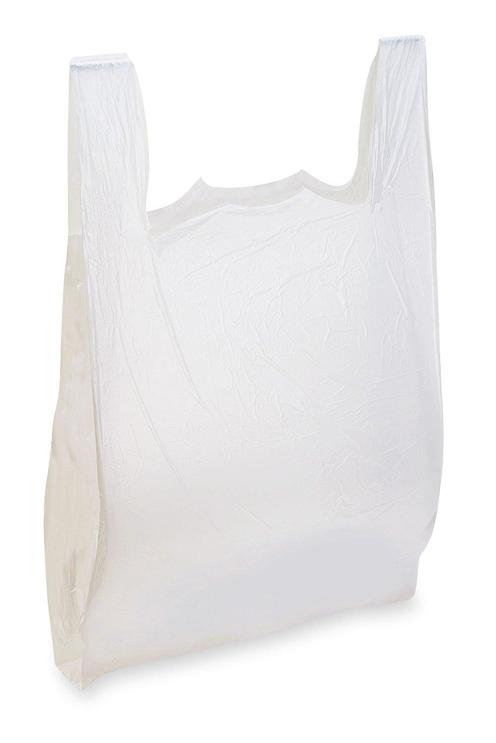 """T-Shirt Bags - 18 Mic LDPE - 12"""" x 7"""" x 22.5"""" (1000/cs)"""