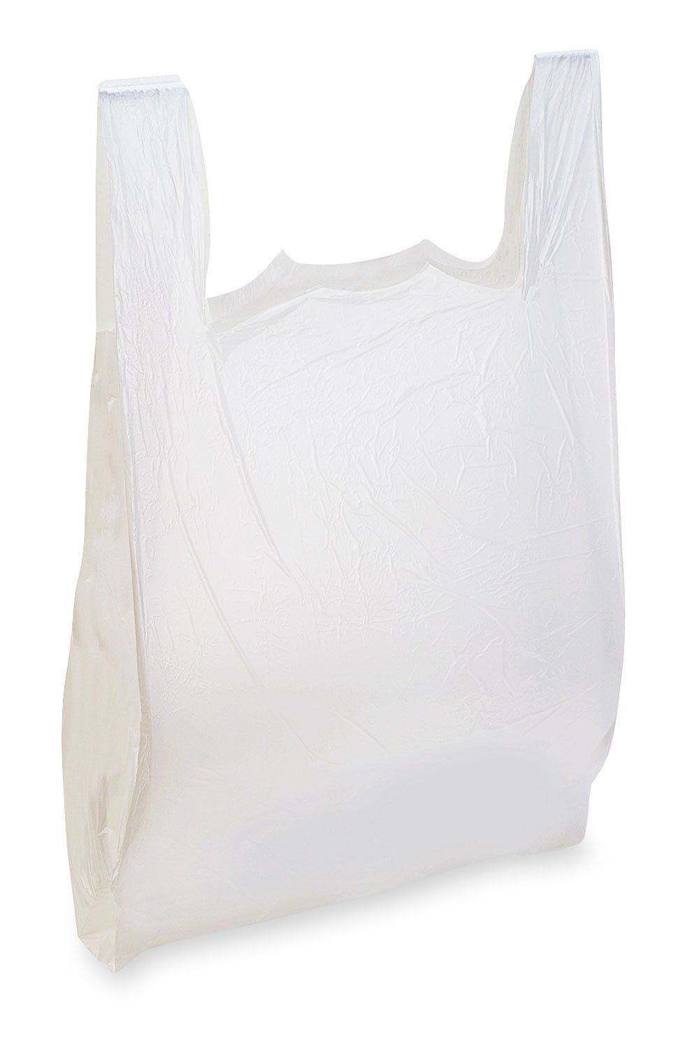 "T-Shirt Bags - .8 Mil. LDPE 1 color/2 sides - 11 x 7"" x 20"""
