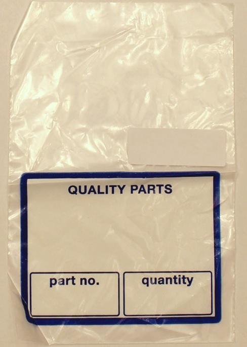 """Parts Bag - 9"""" x 12"""" - 2 mil - White/Blue (1000/cs)"""