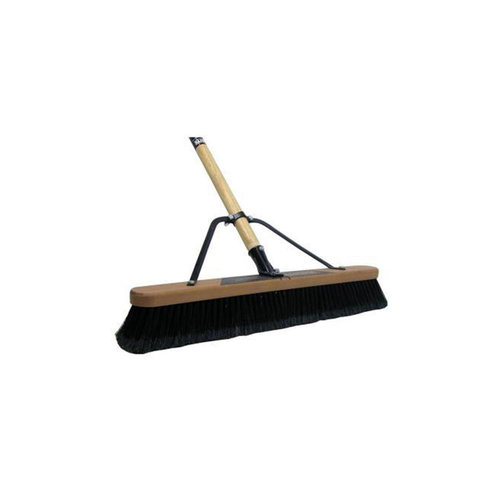 """Brooms - 24"""" Warehouse Soft - (Head, Brace, and Handle)"""