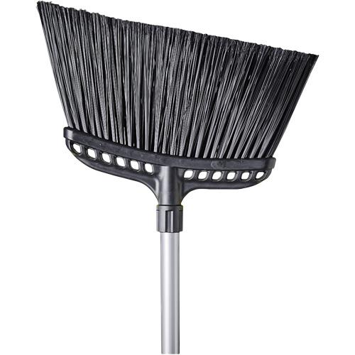 "Broom - Angled Lobby Broom w/Metal Handle & Foam Grip - 10"""