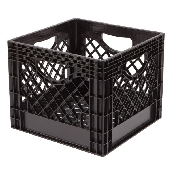 "Dairy Milk Crate - Black - 13 x"" 13"" x 11"""
