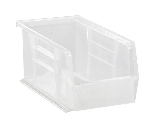 "Plastic Parts Bin - Clear - 5 1/2"" x 10 7/8"" x 5"""