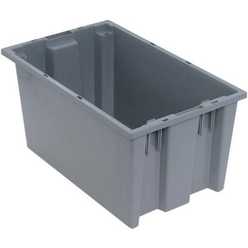 """Plastic Bins - Gray - 23 3/4"""" L x 15 3/4"""" W x 12 1/4"""" H"""