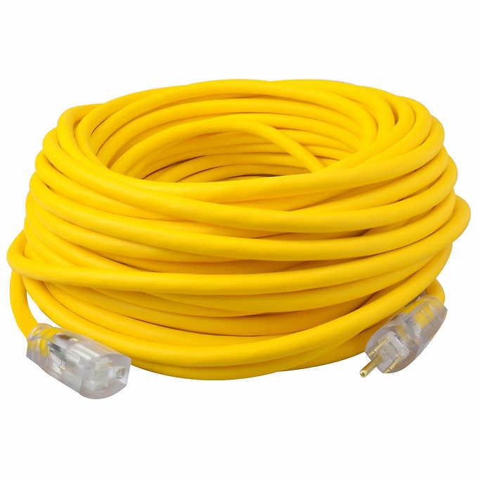 Extension Cord - 50 ft. HEAVY DUTY 12/3 SJTW single end