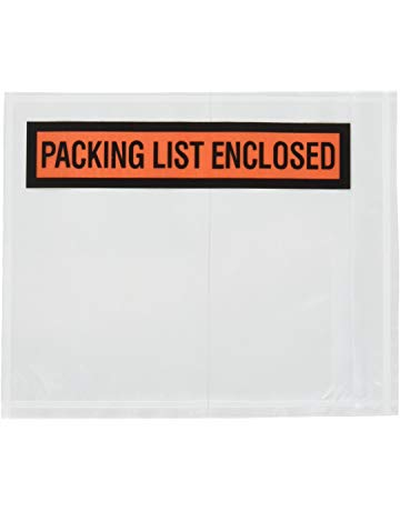 "Packing List Envelopes - Printed ""Packing List Enclosed"" - 4.5"" x 5.5"" - 1/4 panel (1000/box)"