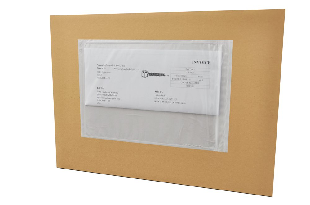 "Packing List Envelopes - Clear - 4.5"" x 7.5"" - Side Load"