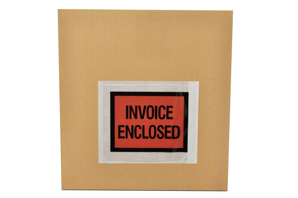 "Invoice Enclosed Envelopes - 1/4 Panel - 4"" x 5"""