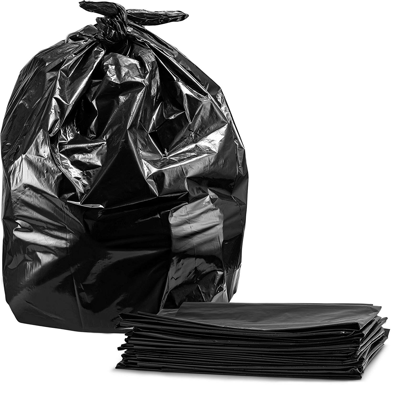 """Degradable Garbage Bag - 42"""" x 48"""" - Strong - Blk - 125/cs"""