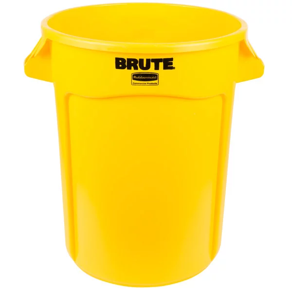 Brute Plastic Garbage Can - Yellow (32 gallon)