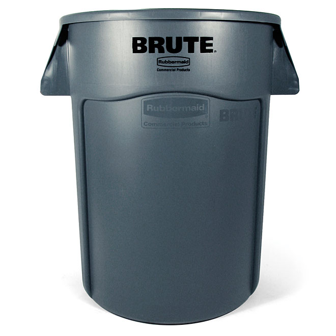 Brute Plastic Garbage Can - Grey (32 gallon)