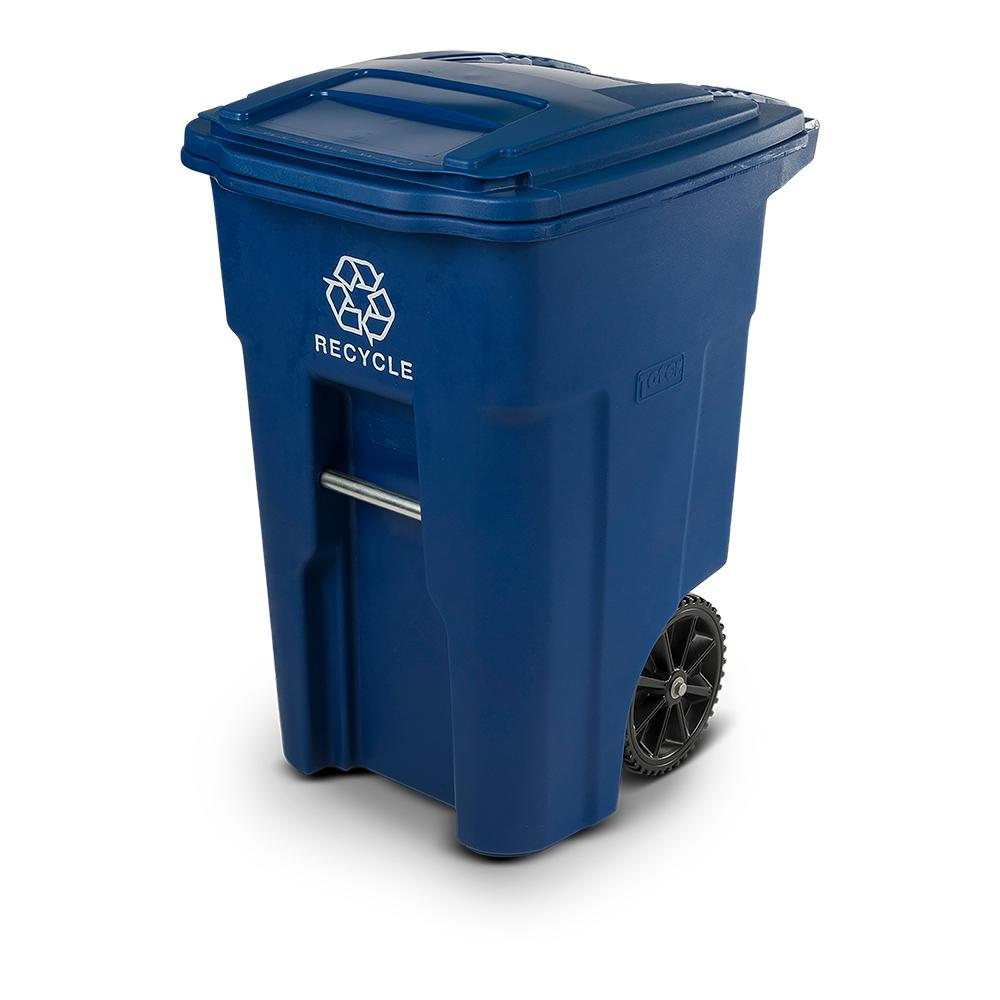 Large Recycling Bin - on wheels with lid - 122 litre Capcity