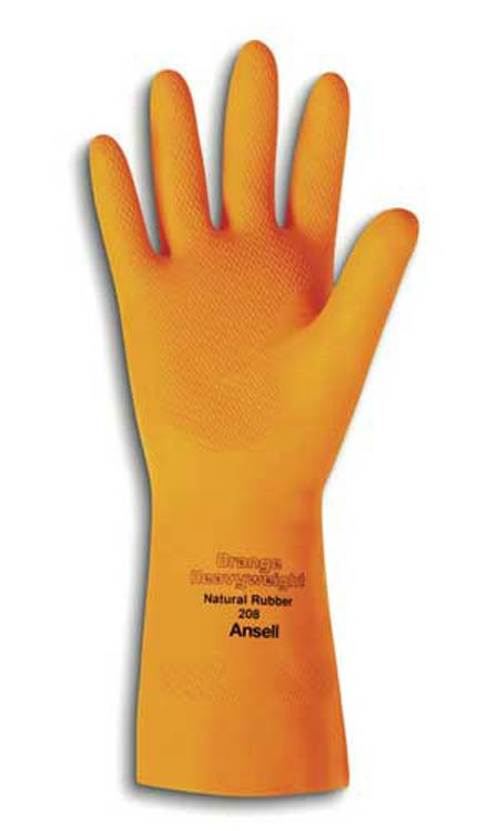 Gloves - Orange Latex Gloves (30 mil) 87-208