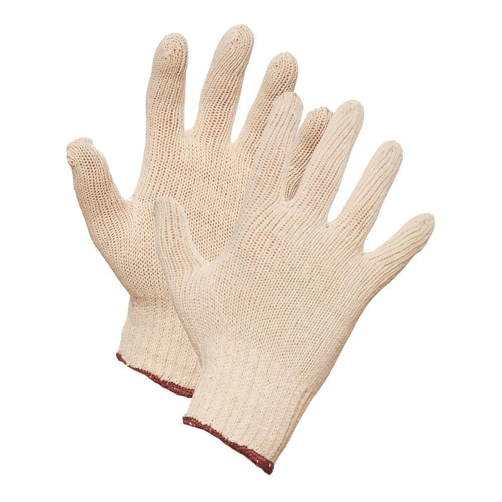 Gloves - String Knit Work Gloves -White - L
