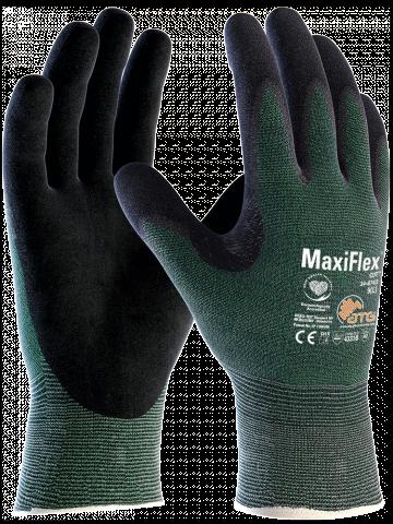 Gloves - Maxiflex Cut 3 - Green (Medium, Size 8) 34-8743