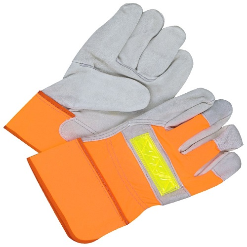 Gloves - Split Cowhide - Lined - Fitter - Hi-Viz Orange