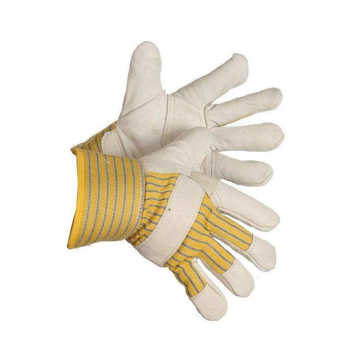 Gloves - Cowgrain Leather Patch Palm Economy Grade Work Glove - O/S