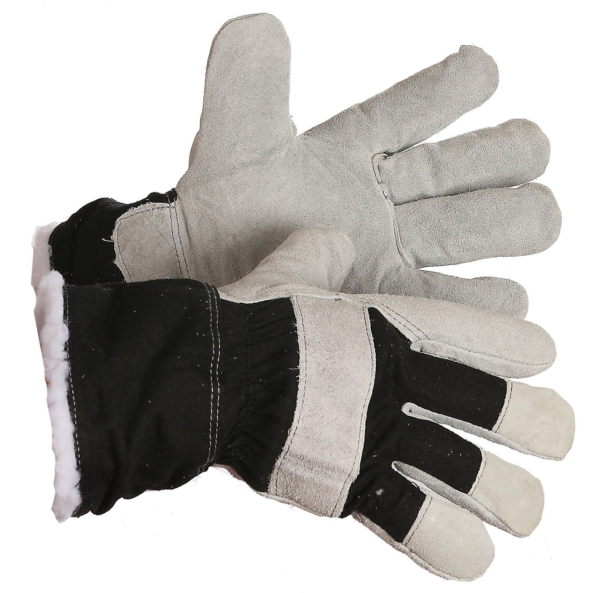 """Gloves - The """"Arnold"""" Pile Lined Split Leather Winter Work Glove - O/S"""