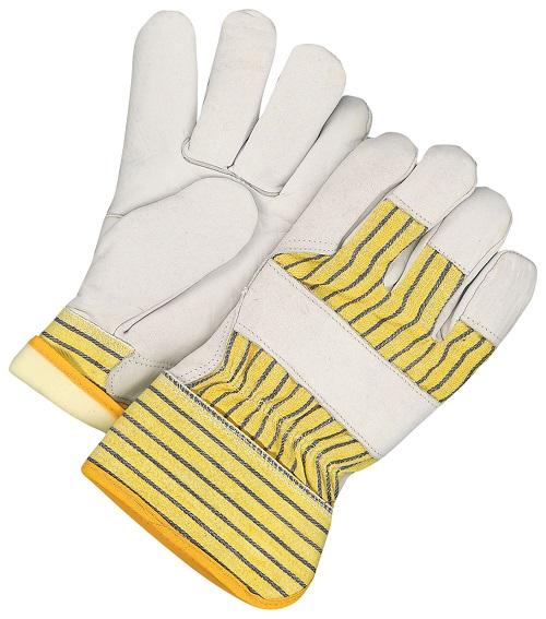 Gloves - Grain Cowhide Rigger w/Rubberized Cuff - L