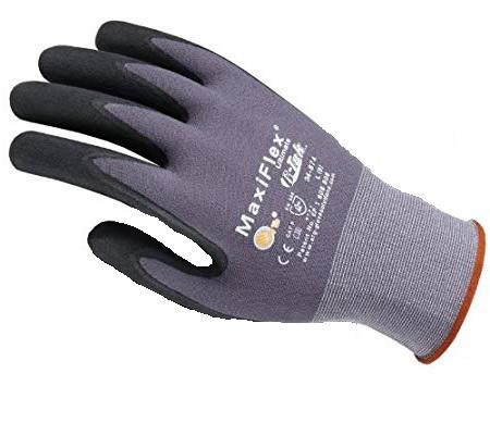 Gloves - MaxiFlex® Ultimate Micro-Foam Nitrile Coated Glove - Gry/Blk - L