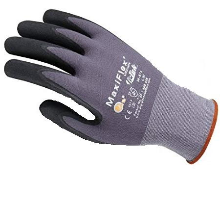 Gloves - Maxiflex Ultimate - Grey/Black (Large, Size 9)