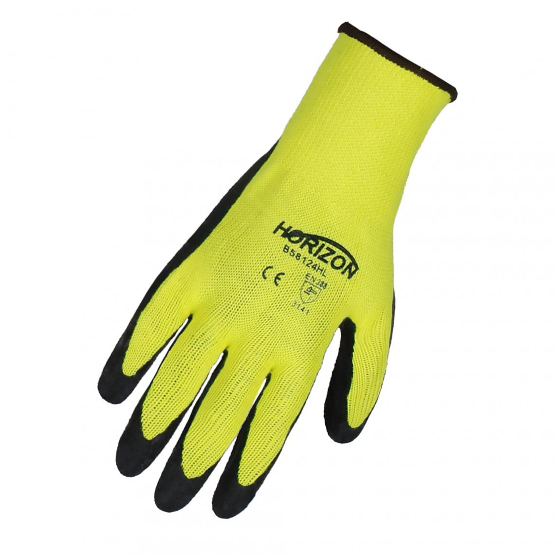 Gloves - Horizon Hi-Vis Latex Coated Glove - YL- L