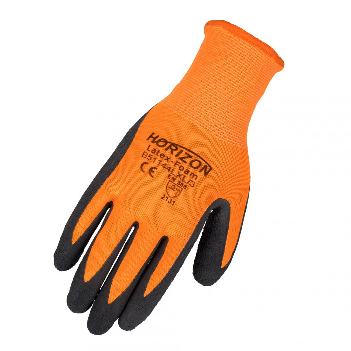 Gloves - Horizon Hi-Vis Latex Coated Glove - Org - L/XL