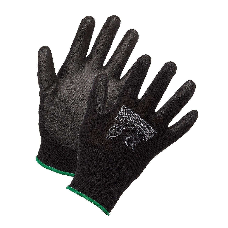 Gloves - Nylon Work Glove, Polyurethane Palm Coated - Blk - M