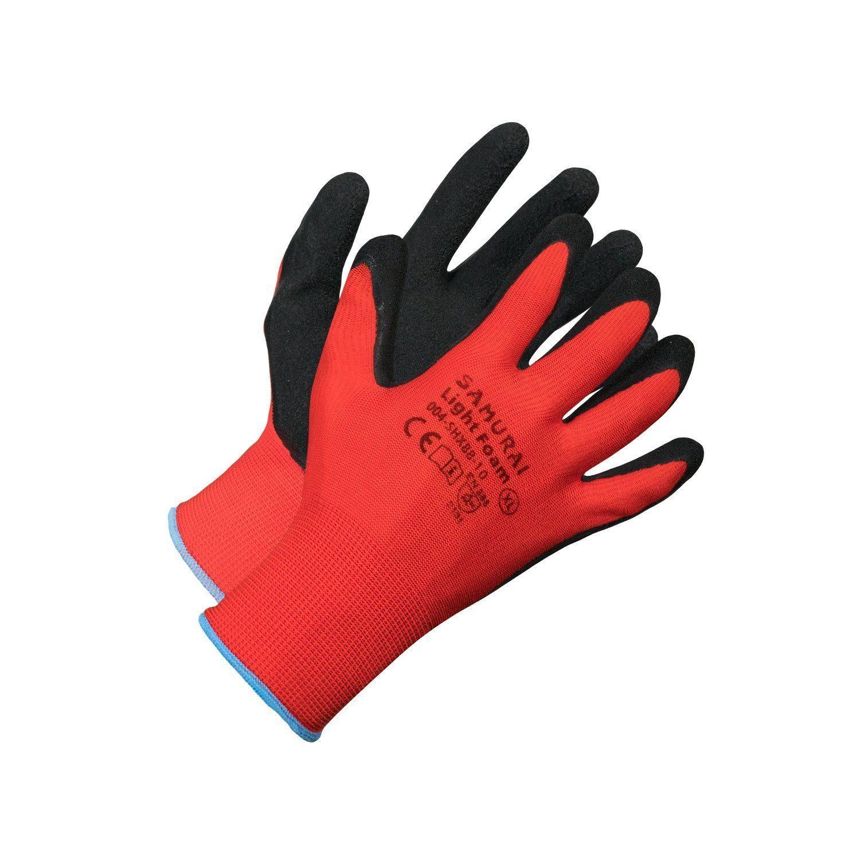 Gloves - Samurai Light Foam High Dexterity Work Glove - Red - XL
