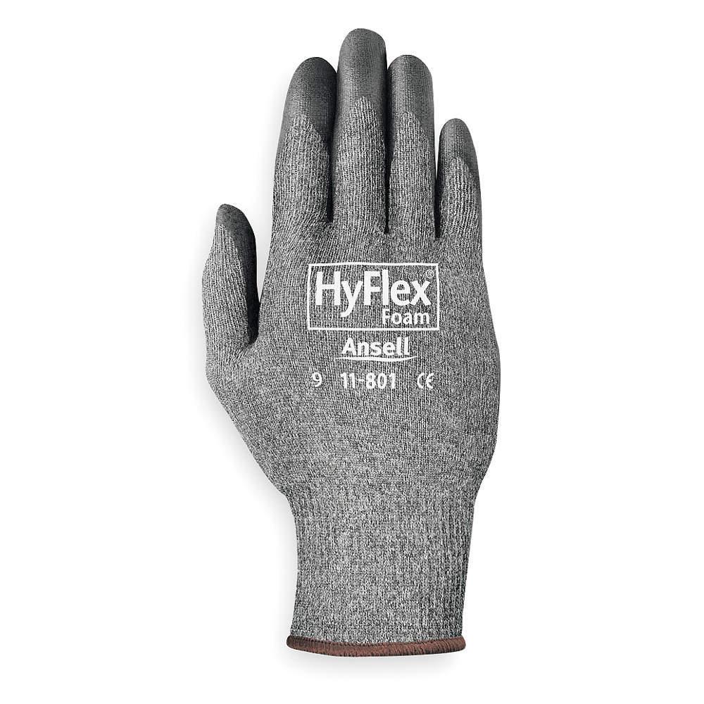 Gloves - Hyflex Light - Gray/Black (Size 10)