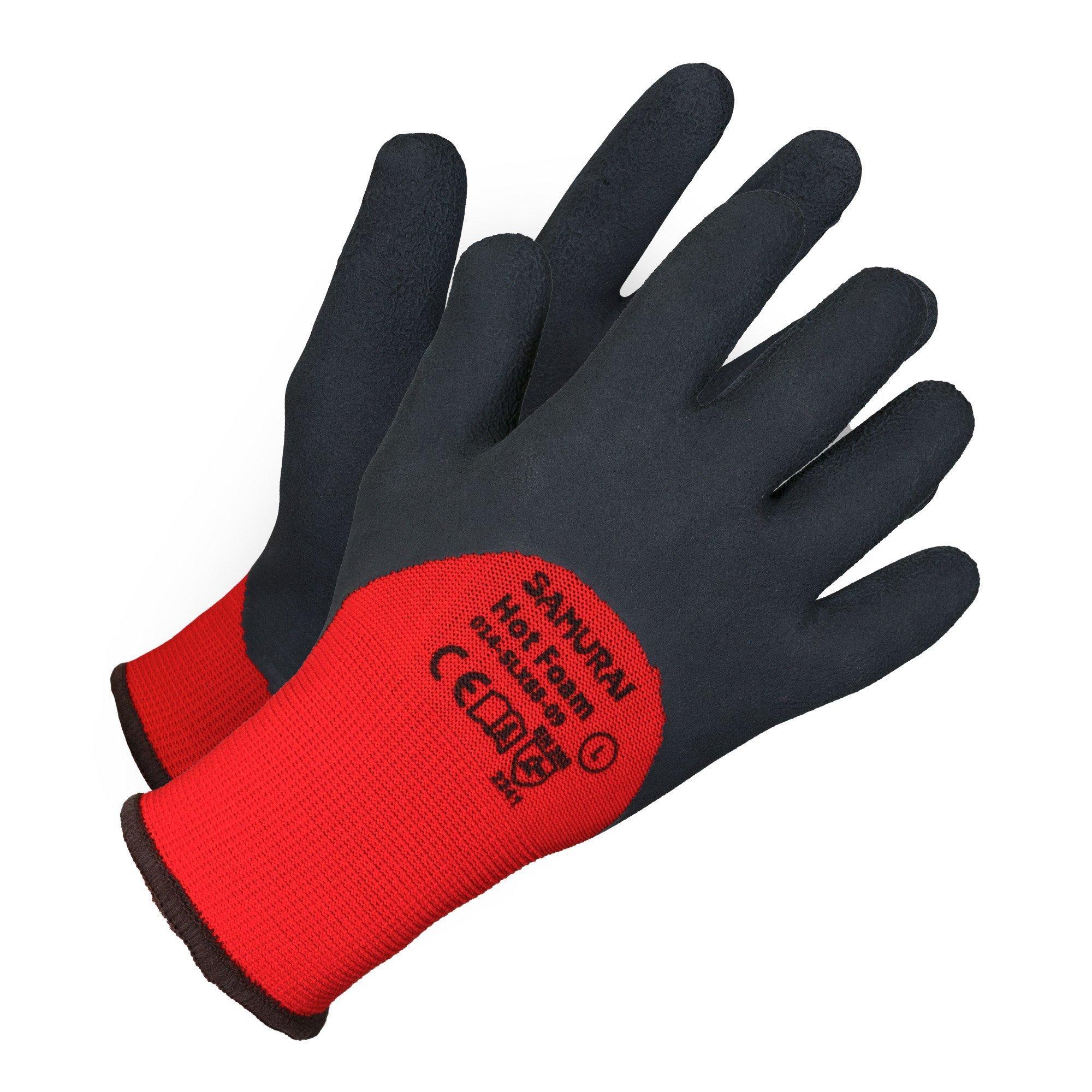 Gloves - Samurai Hot Foam High Dexterity Insulated Work Glove - Red - XL