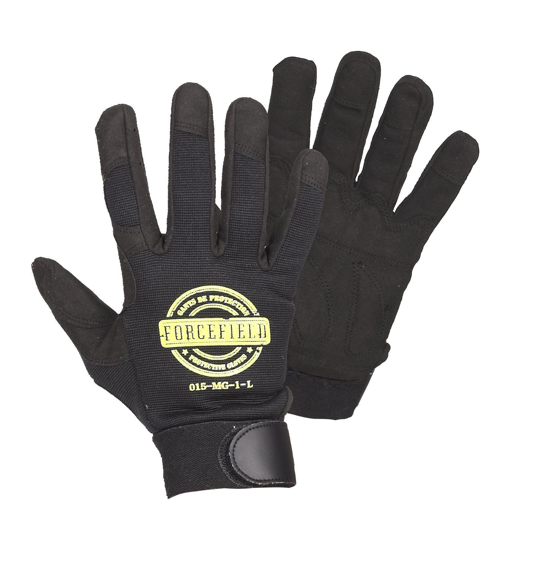 Gloves - Forcefield Mechanic's Glove w/Padded Palm - Blk - L