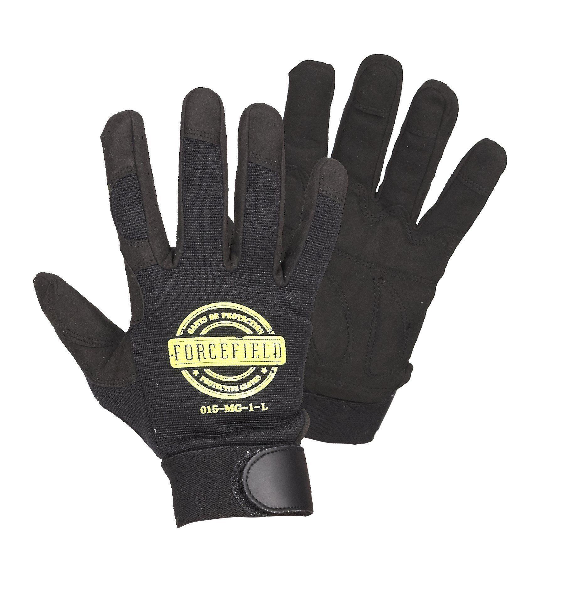 Mechanics Glove -Forcefield-Unlined-Black (Large), 015-MG1-L