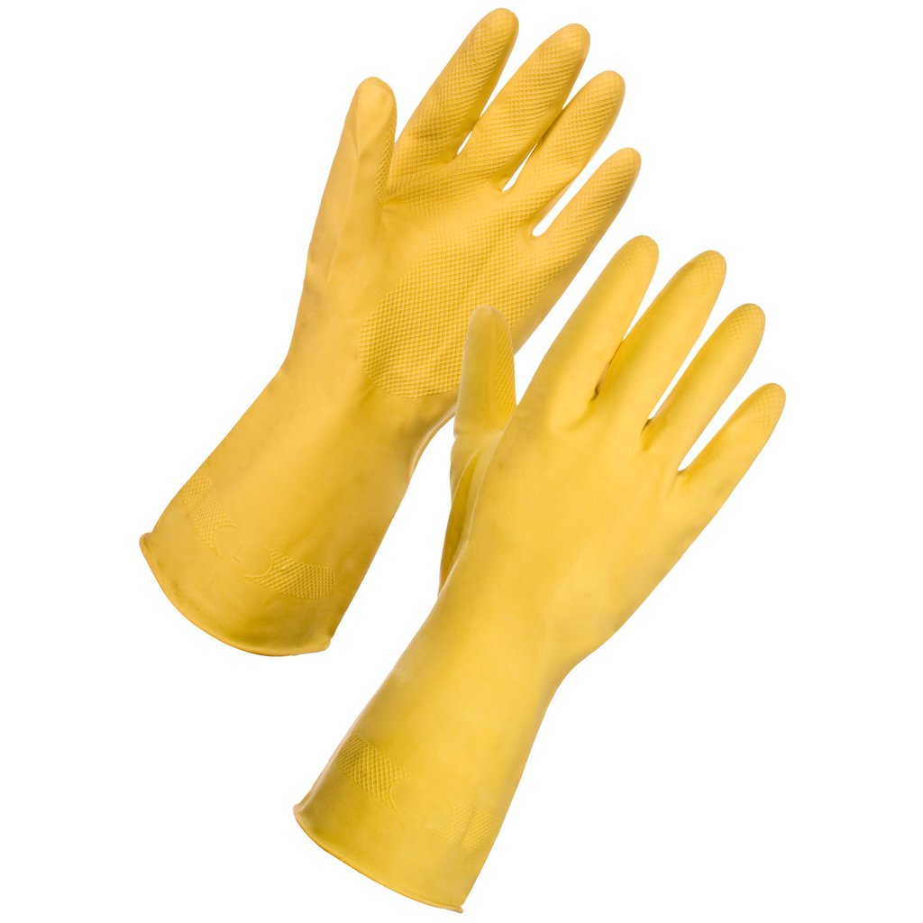 Gloves - Rubber - Yellow