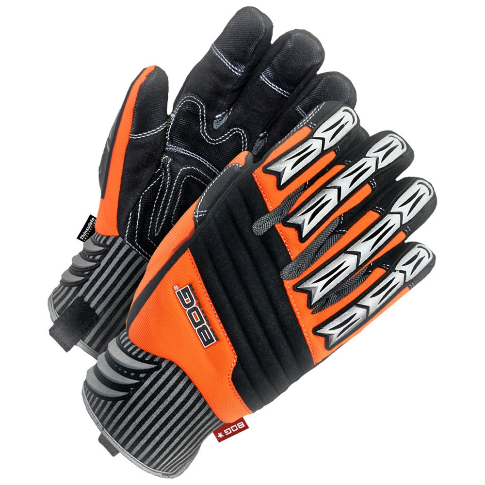 Gloves - Lined Synthetic Leather Performance Glove w/Padded Palm - L