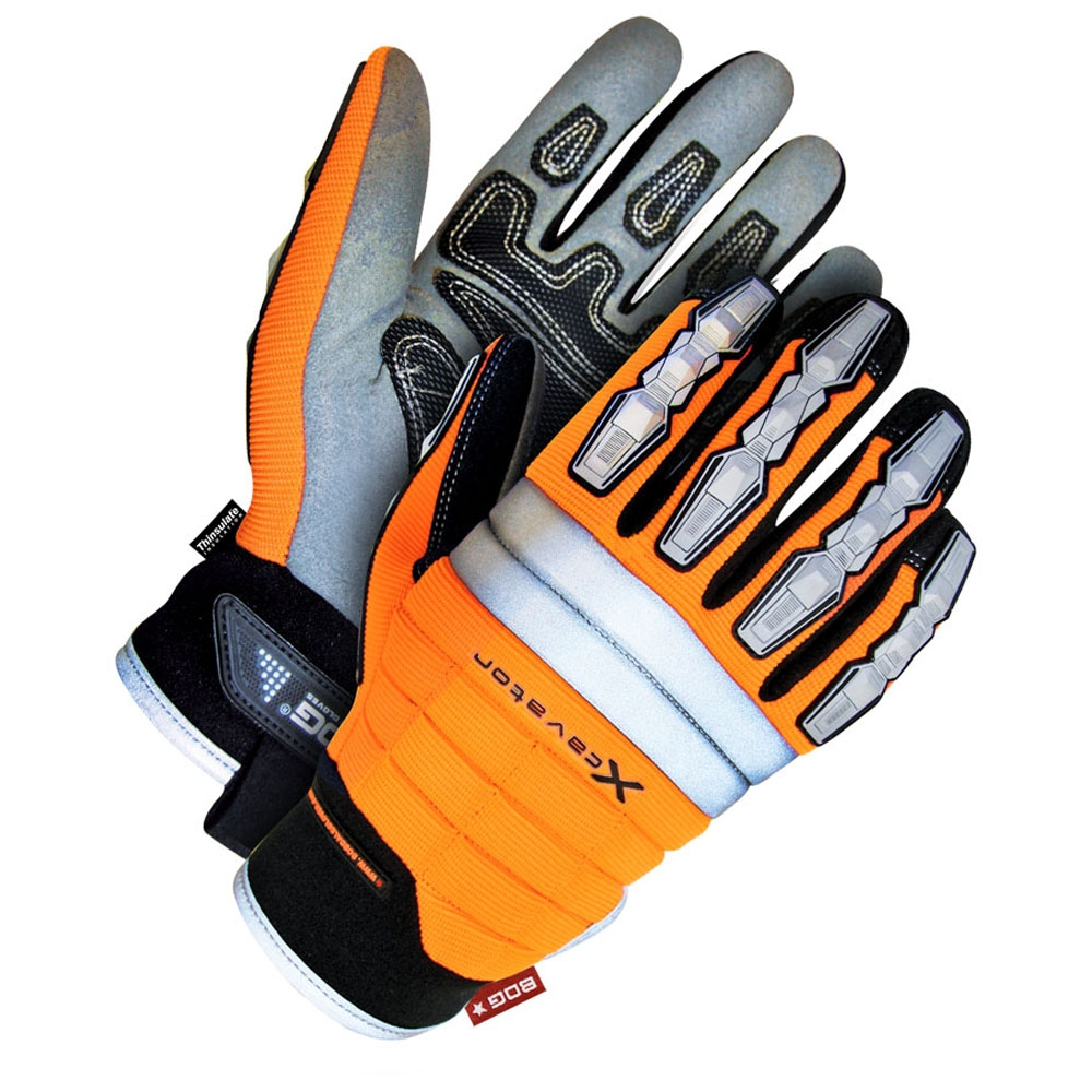 Gloves - Hi-Vis Lined Synthetic Leather Performance Glove - L