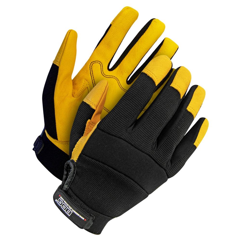 Gloves - Grain Goatskin Mechanics Glove w/Padded Palm - Goatskin - L