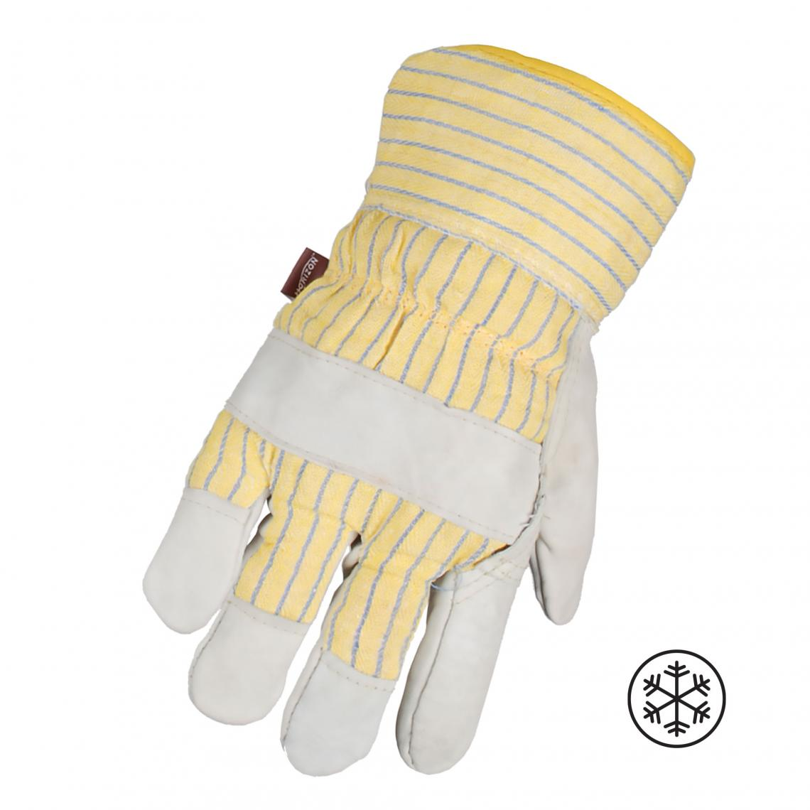 Gloves - Horizon Cowhide Leather, Foam and Fleece Lined Winter Work Glove - O/S
