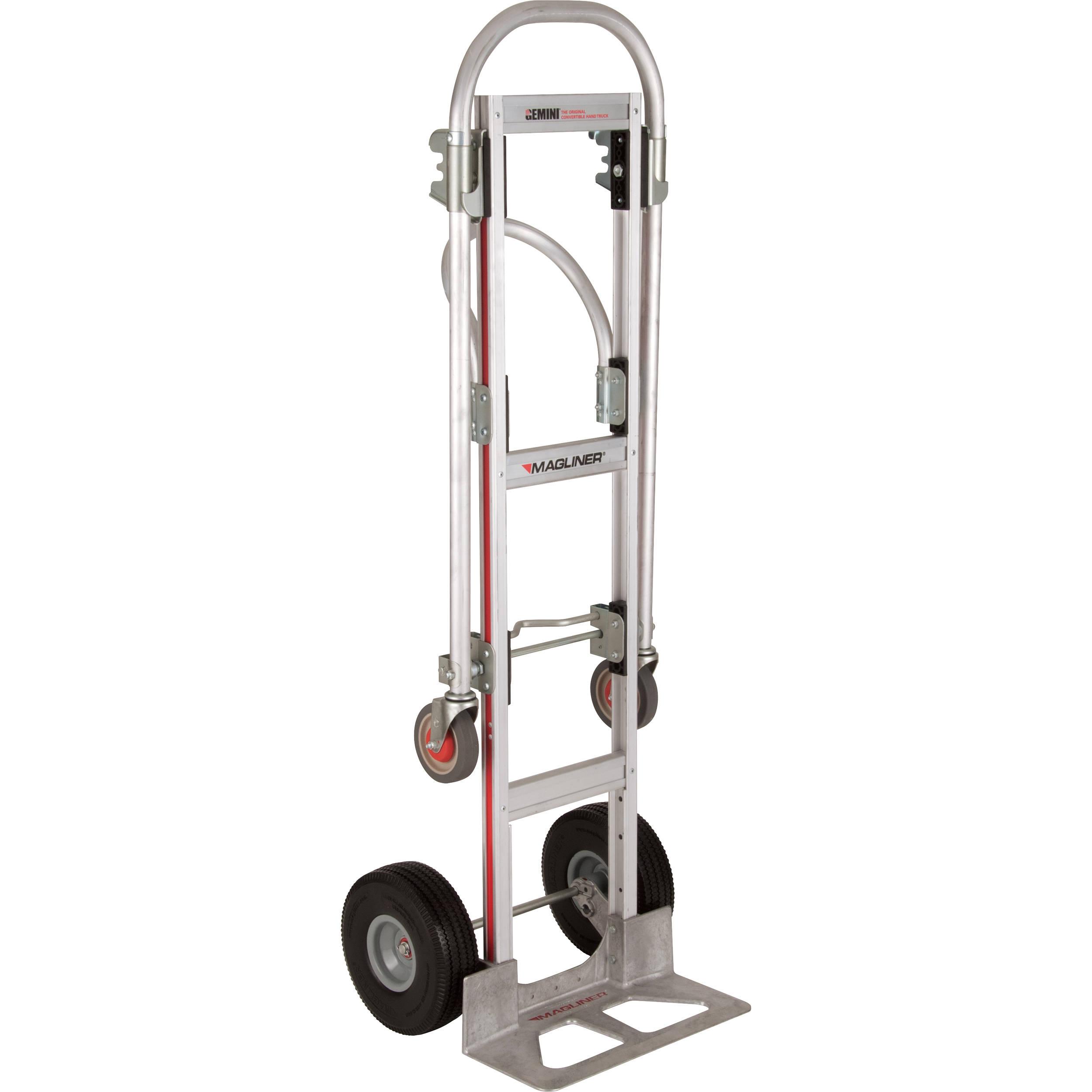 Aluminum Convertible Handtruck - Urethane Foam Wheels 10
