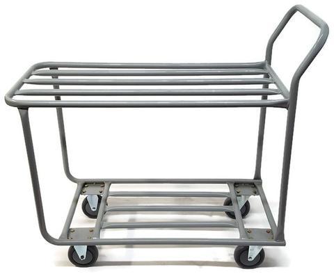 "18"" x 39"" Steel Grocery Dolly, Single Deck, 5"" Casters, 600lb cap"