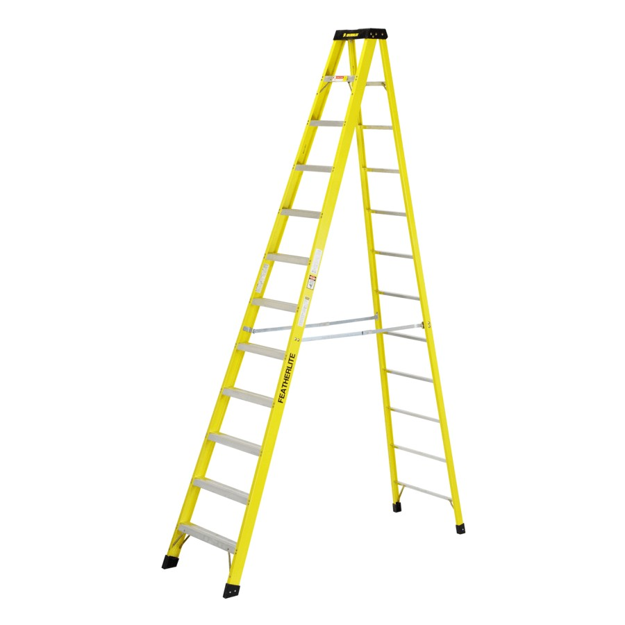 Step Ladder - 12 Foot - Fiberglass (300 lb capacity)