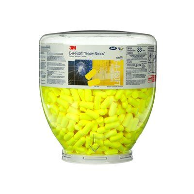 Ear Plugs Refill - Earsoft Yellow 500/Canister 391-1004