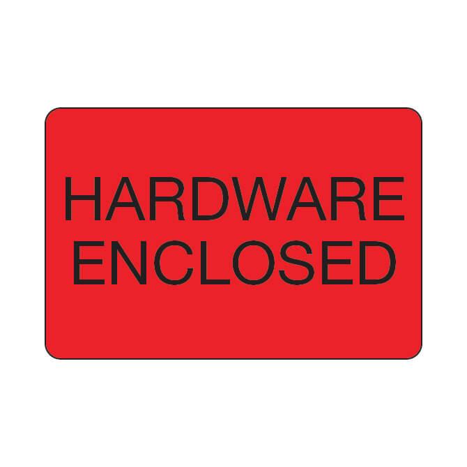 Labels - Hardware Enclosed