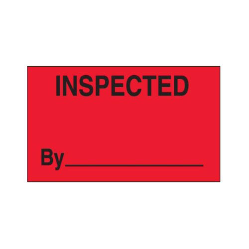 "Labels - Inspected By - 1"" x 2"" (1000/roll)"