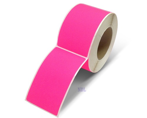 "Labels - Blank - 2"" x 5"" - Fluorescent Pink (500/roll)"
