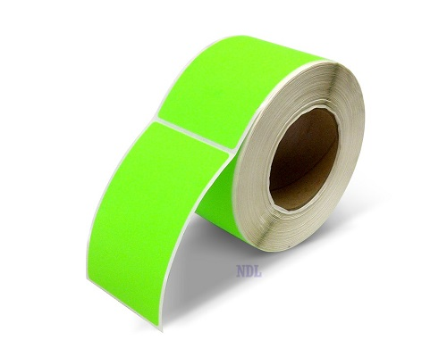 "Labels - Blank - 2"" x 5"" - Fluorescent Green (500/roll)"