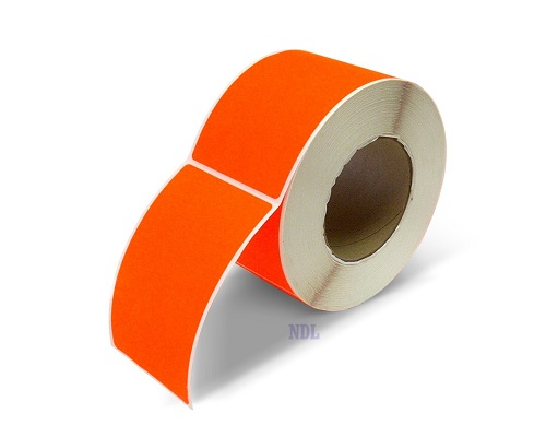 """Labels - Blank - 2"""" x 5"""" - Fluorescent Red (500/roll)"""