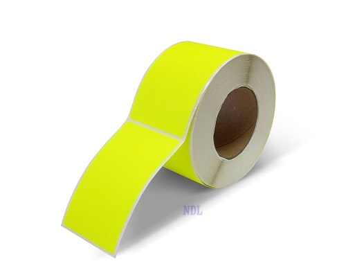 "Labels - Blank - 2"" x 5"" - Fluorescent Yellow (500/roll)"