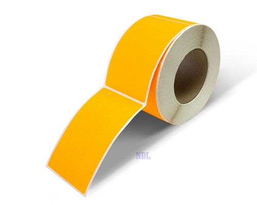 "Labels - Blank - 2"" x 5"" - Fluorescent Orange (500/roll)"